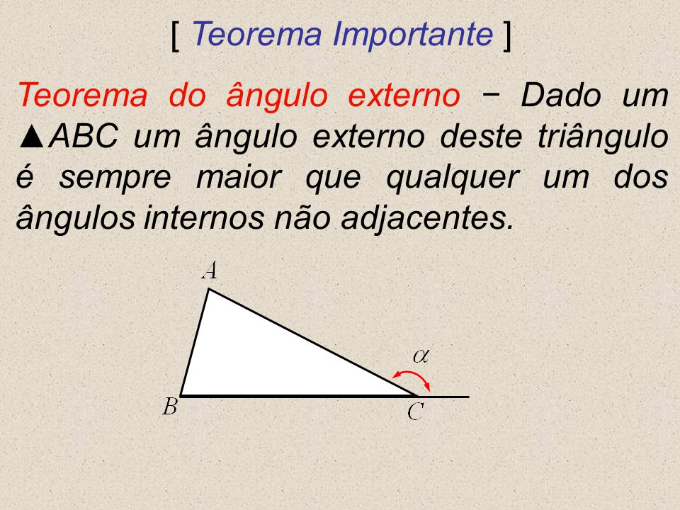 [ Teorema Importante ]